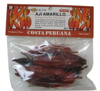Aji Amarillo Organic Chili Pods (dried)