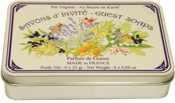 Assorted Soaps with Shea Butter in a Collectors Parfum de Grasse Tin (Savon LeBlanc)