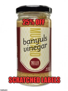 Banyuls Vinegar Mustard (Coarse) SCRATCHED LABELS