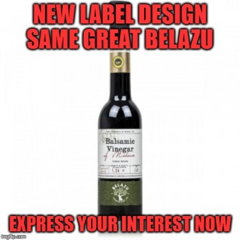 Belazu Balsamic Expressing Interest at $50