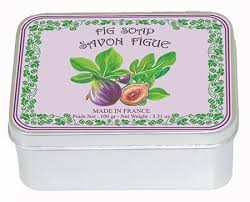 Fig Soap with Shea Butter in a Collectors Fig Tin (Savon LeBlanc)