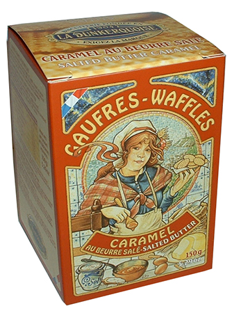 Caramel Pure Butter Waffle Cookies by Biscuiterie Dunkerquoise