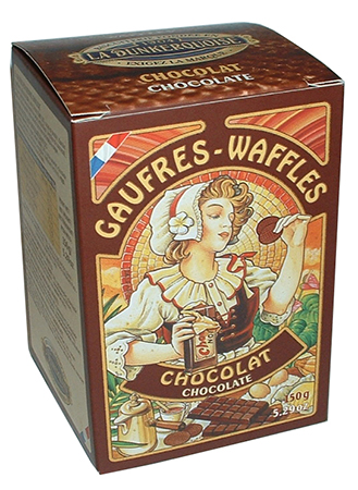 Chocolate Pure Butter Waffle Cookies by Biscuiterie Dunkerquoise