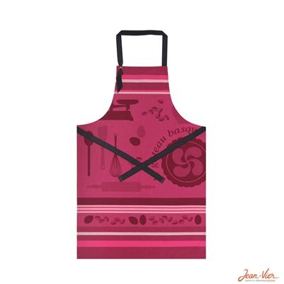 Basque Recipe Apron Pink (Jean Vier)