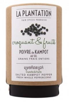 Kampot Salted Organic Green Peppercorns (Tube)