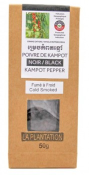 Kampot Cold Smoked Black Peppercorns (Organic)