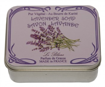 Lavender Soap with Shea Butter in a Collectors Lavender Tin (Savon LeBlanc)