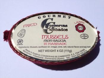 Mejillones Mussels in Marinade (Fried) (Conservas de Cambados)
