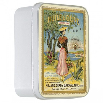 Olive Oil Soap with Shea Butter in a Collectors La Nicoise Tin (Savon LeBlanc)