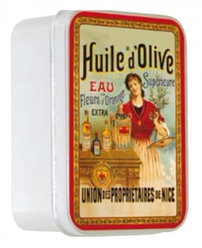 Olive Oil Soap with Shea Butter in a Collectors Huile dOlive Tin (Savon LeBlanc)