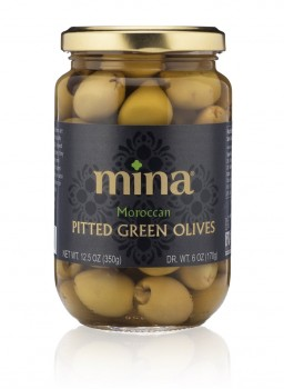 Pitted Green Picholine Olives (Mina)