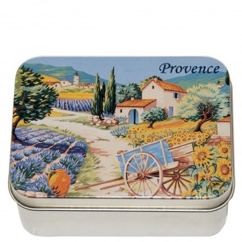 Lavender Soap with Shea Butter in a Collectors Provence Garden Tin (Savon LeBlanc)