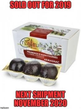 Stuffed Agen Prunes with Armagnac (Coufidou)