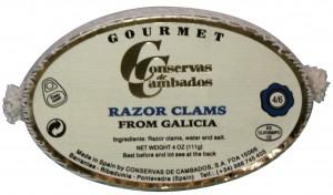 Navajas Razor Clams from Galicia (Conservas de Cambados)