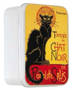 Rose Soap with Shea Butter in a Collectors Chat Noir Tin  (Savon LeBlanc)
