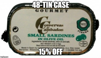Small Sardines in Olive Oil (Conservas de Cambados) 48 tins