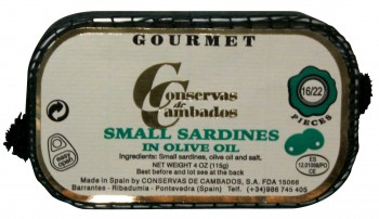 Small Sardines in Olive Oil (Conservas de Cambados)