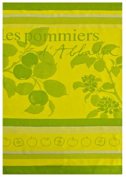 Apple Tree Tea Towel Green with Pink (Jean Vier)
