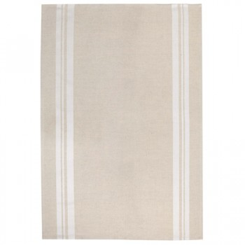 Beige and White Tea Towel (Jean Vier)