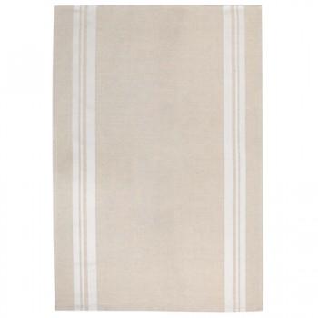 Beige and White Tea Towel (Jean Vier)
