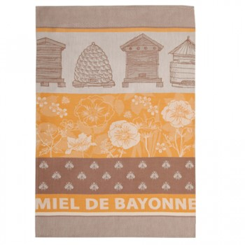 Honey Tea Towel Orange and Brown (Jean Vier)