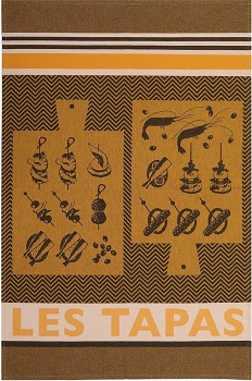 Tapas Tea Towel Black & Gold (Jean Vier)